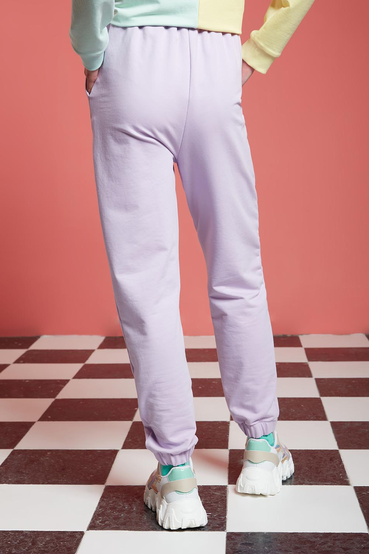 Basic Paçası Dikişli Jogger Pantolon (Lila)