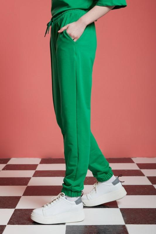 Basic Paçası Dikişli Jogger Pantolon (Yeşil)