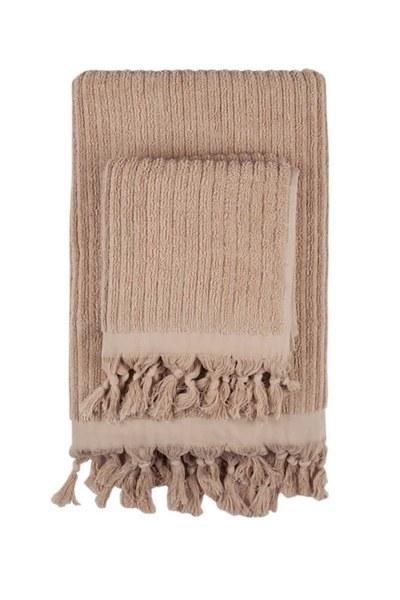 MIZALLE Cotton Towel (45X90) (Camel)