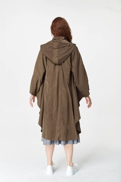 Poncho Design Raincoat (Khaki) - Thumbnail