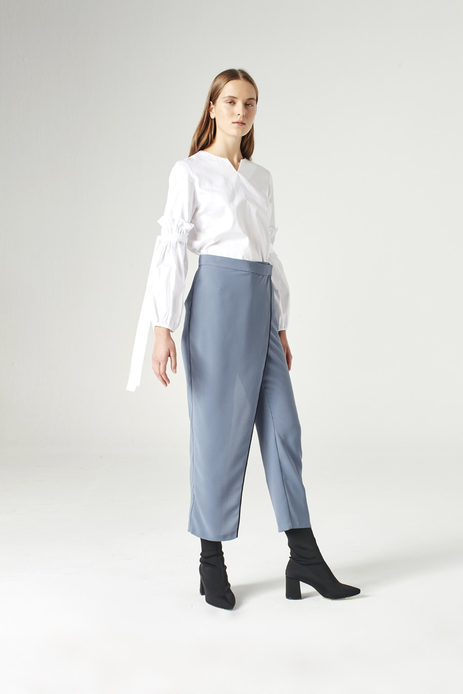 MIZALLE Trouser Skirt (Indigo) (1)