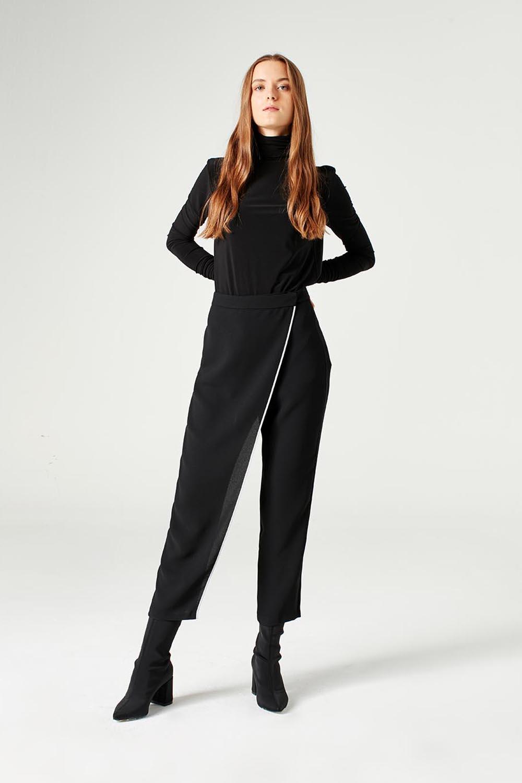 MIZALLE Trouser Skirt (Black) (1)