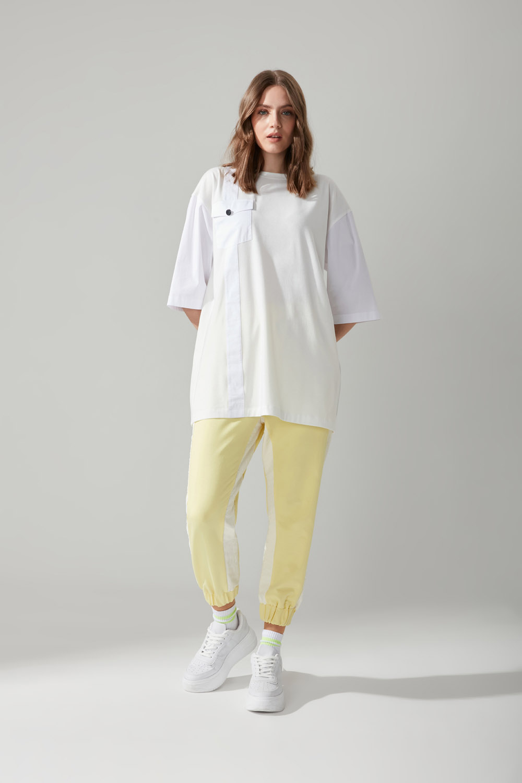 Paraşüt Kumaş Sarı Pantolon