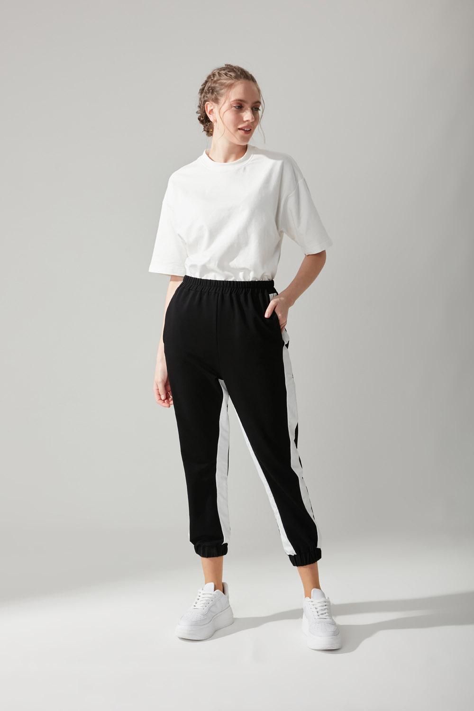 Paraşüt Kumaş Siyah Pantolon