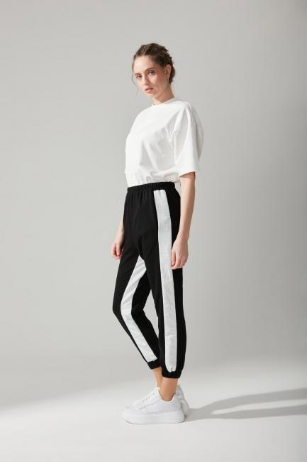 Paraşüt Kumaş Siyah Pantolon - Thumbnail