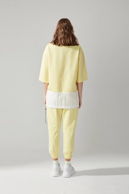 Cepli Sarı Sweatshirt - Thumbnail