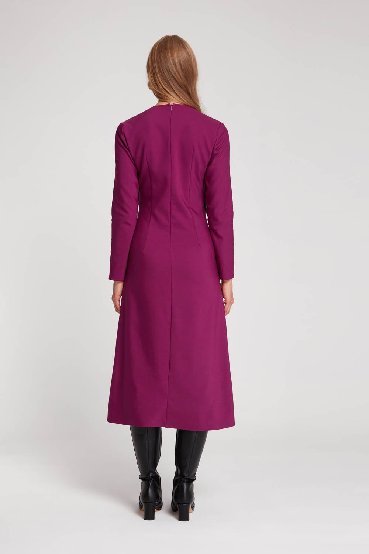 Parça Detaylı Elbise (Mor)