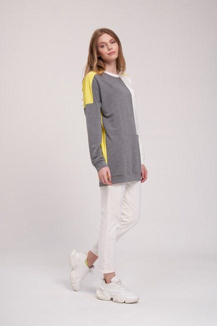 MIZALLE YOUTH - Parça Detaylı Sweatshirt (Mix) (1)