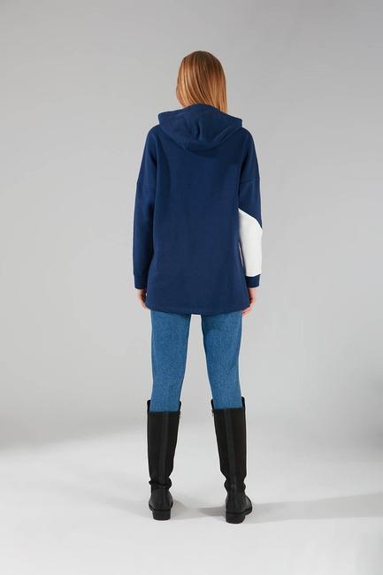Parçalı Çok Renkli Sweatshirt (Lacivert) - Thumbnail