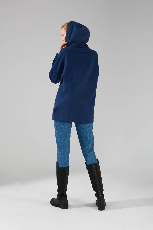 Parçalı Çok Renkli Lacivert Sweatshirt