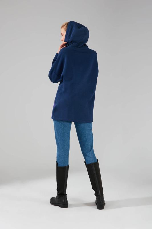 Parçalı Çok Renkli Sweatshirt (Lacivert)