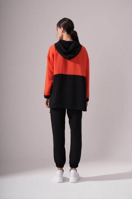 Krep Turuncu Sweatshirt - Thumbnail
