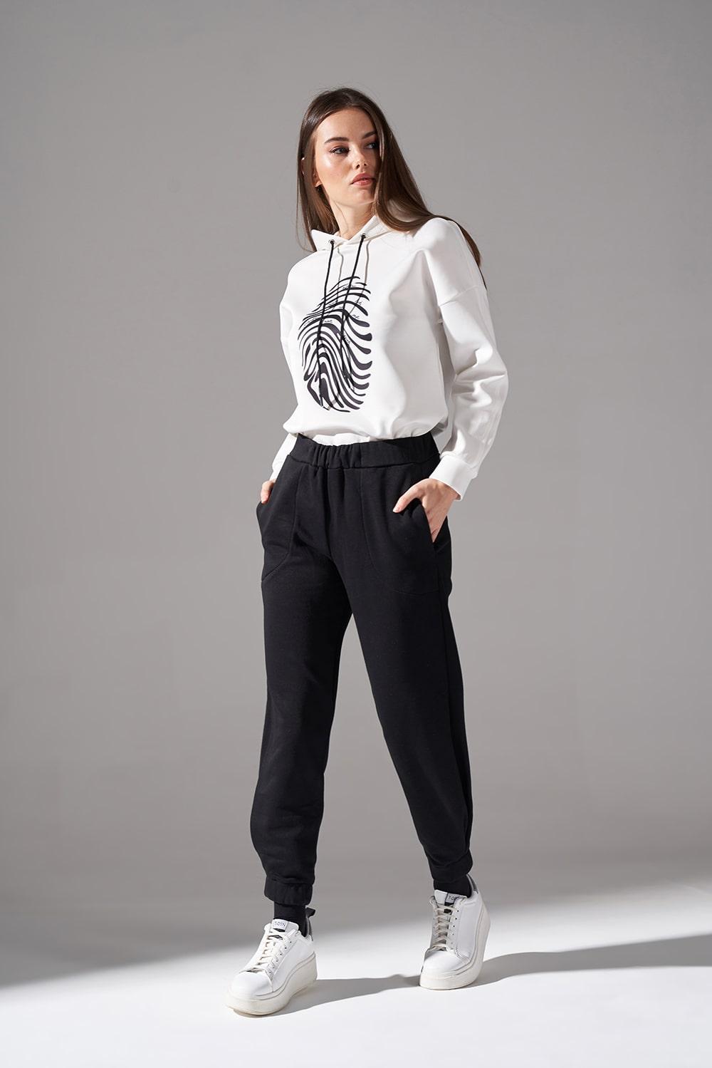 Parçalı Paça Dikişli Pantolon (Siyah)