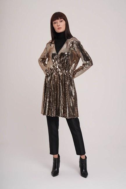 MIZALLE - Parıltı Detaylı Tunik (Gold) (1)