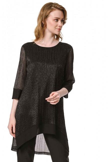 MIZALLE Shiny Luxury Tunic (Black)