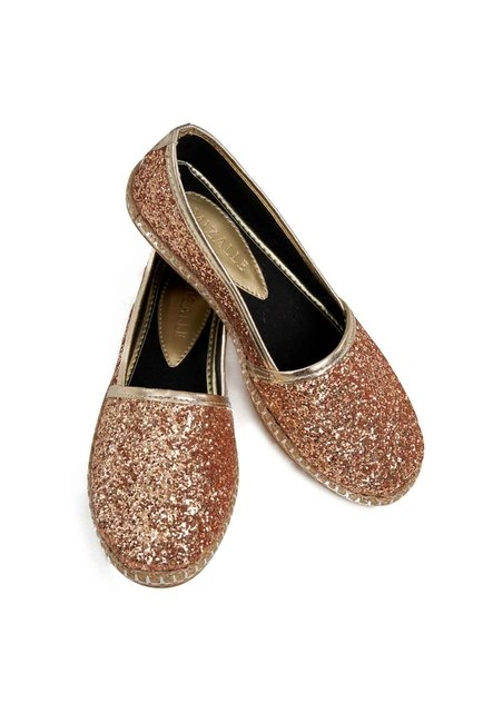 MIZALLE Bright Textured Espadrille (Gold)