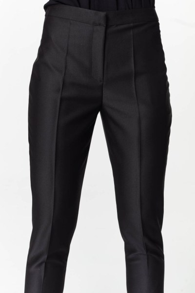 Pants With Glossy Texture (Black) - Thumbnail