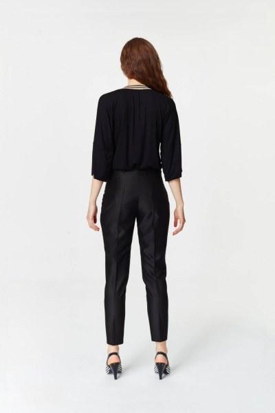 Parlak Dokulu Pantolon (Siyah) - Thumbnail