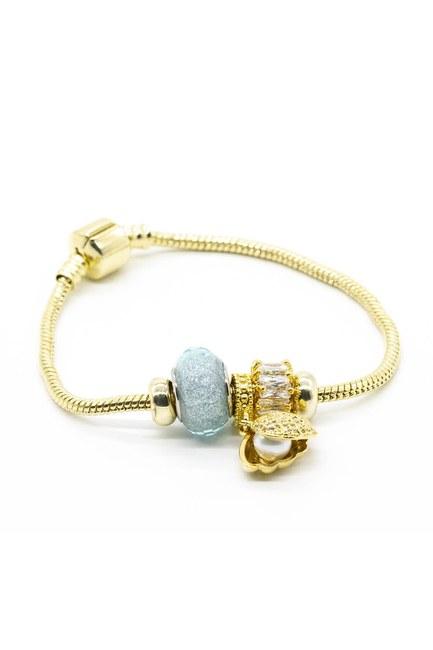 MIZALLE - Shiny Oyster Bracelet (Blue) (1)