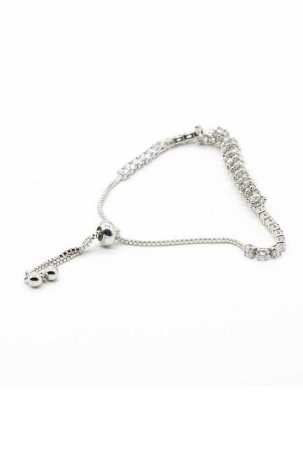MIZALLE - Shiny Stoned Bracelet (Grey) (1)