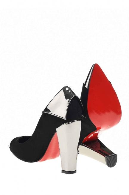 Parlak Uçlu Ayakkabı (Siyah) - Thumbnail