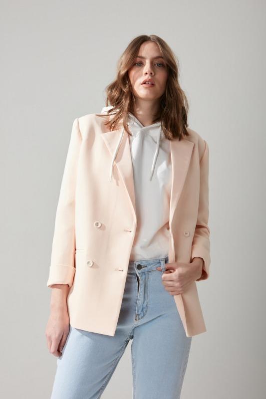 Pastel Renkli Somon Ceket