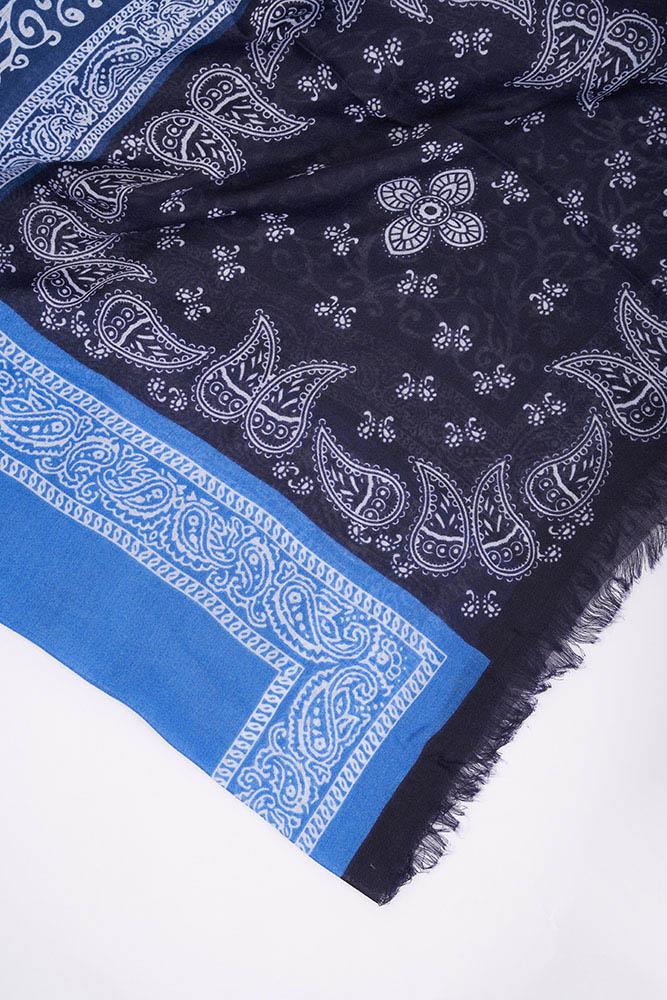 Patchwork Çok Desenli Şal (Mavi)