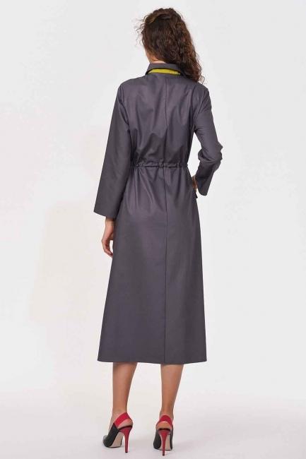 Bag Pocket Long Dress (Grey) - Thumbnail