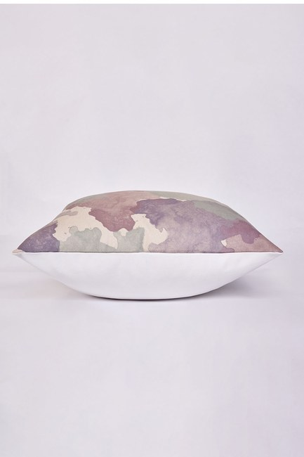 Mizalle Home - غطاء وسادة منقوشة 45x45 (ملونة) (1)