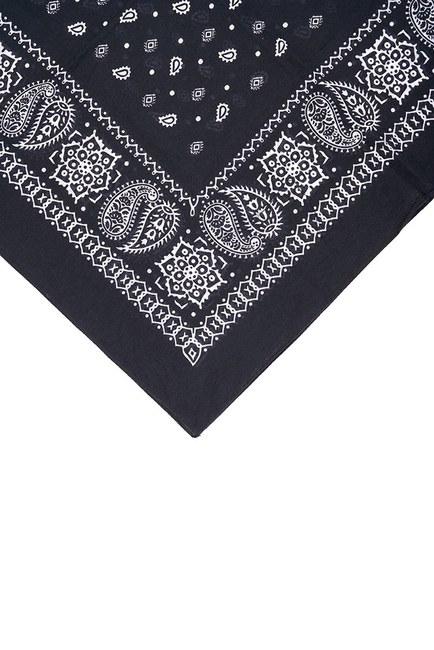 MIZALLE - Patterned Scarf (Black) (1)