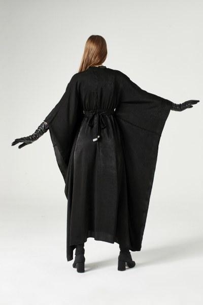 Sequin Strip Detailed Dress (Black) - Thumbnail