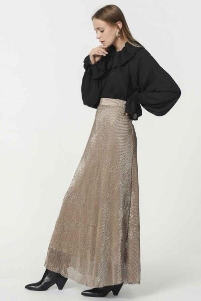 Sequin Skirt (Beige) - Thumbnail