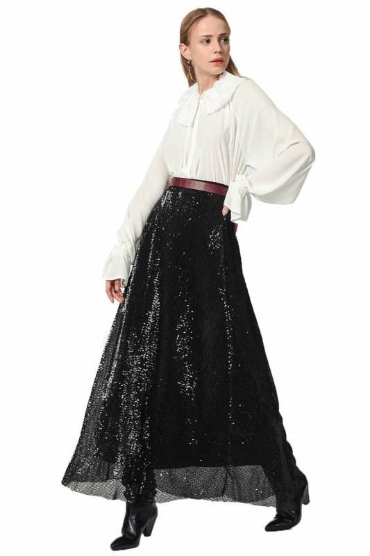 Sequin Skirt (Black)