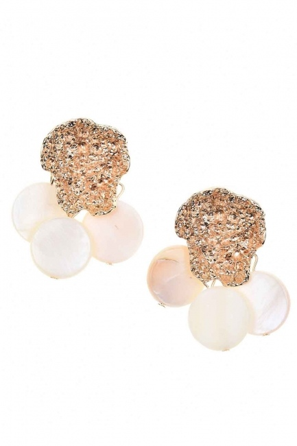 MIZALLE - Pearlescent-Looking Stone Earrings (St) (1)
