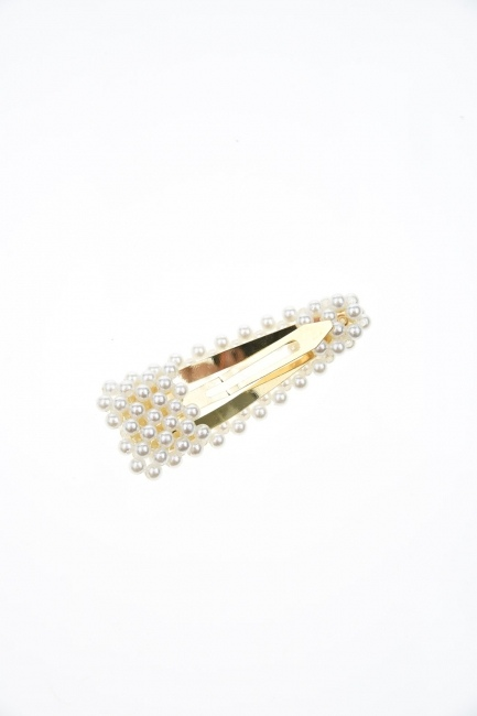 Pearls Snap Buttons Hair Clips (St) - Thumbnail