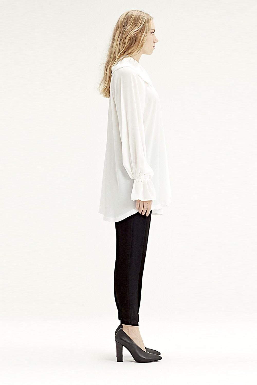 MIZALLE Cloak Collar Dress (Ecru) (1)