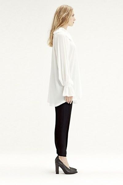 MIZALLE - Cloak Collar Dress (Ecru) (1)