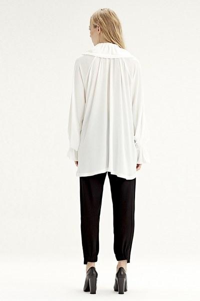 Cloak Collar Dress (Ecru) - Thumbnail