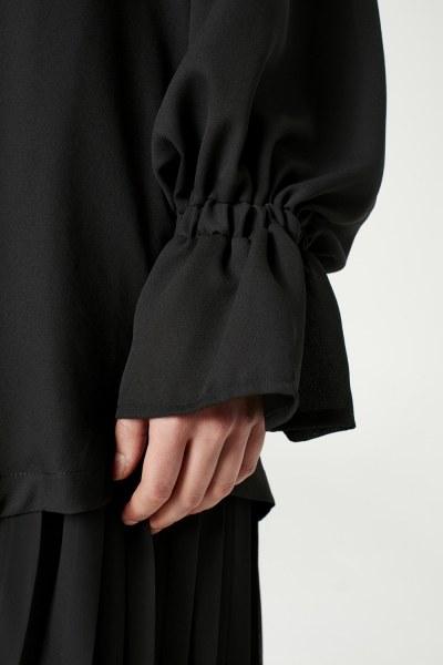 Pelerin Yaka Tunik (Siyah) - Thumbnail