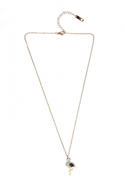 MIZALLE - Pelican Detailed Steel Necklace (St) (1)