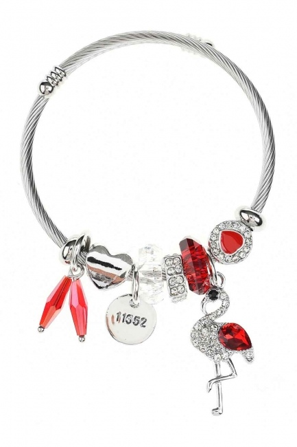 MIZALLE Pelican Detailed Bracelet (Red)