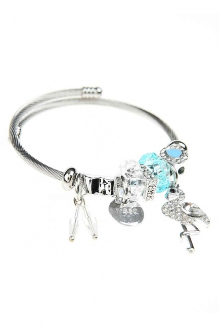 MIZALLE - Pelican Detailed Bracelet (Blue) (1)