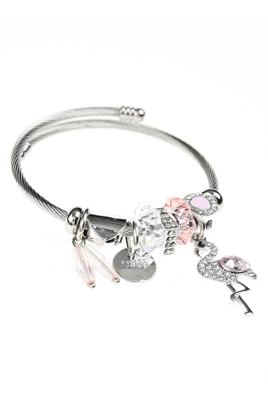 MIZALLE Pelican Detailed Bracelet (Pink) (1)