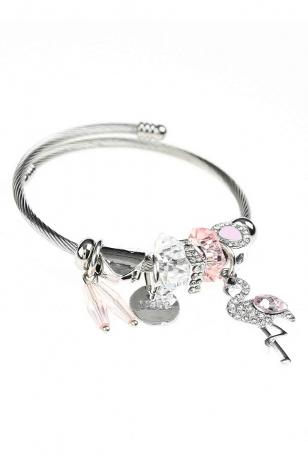 MIZALLE - Pelican Detailed Bracelet (Pink) (1)
