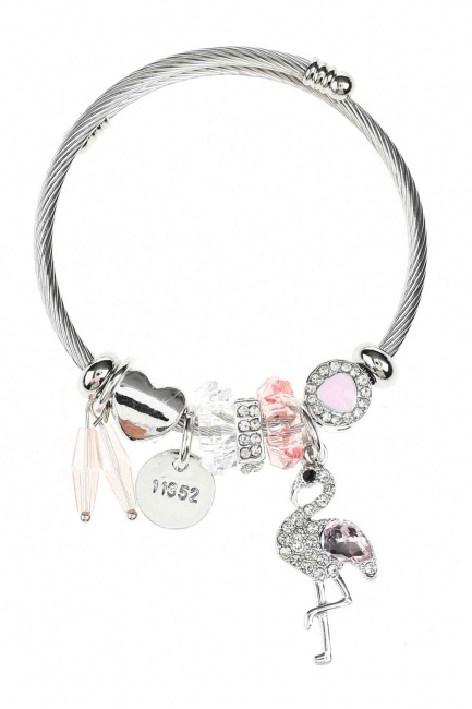 MIZALLE Pelican Detailed Bracelet (Pink)