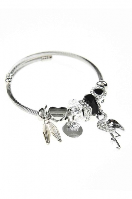 MIZALLE - Pelican Detailed Bracelet (Black) (1)