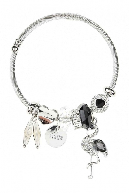 MIZALLE Pelican Detailed Bracelet (Black)