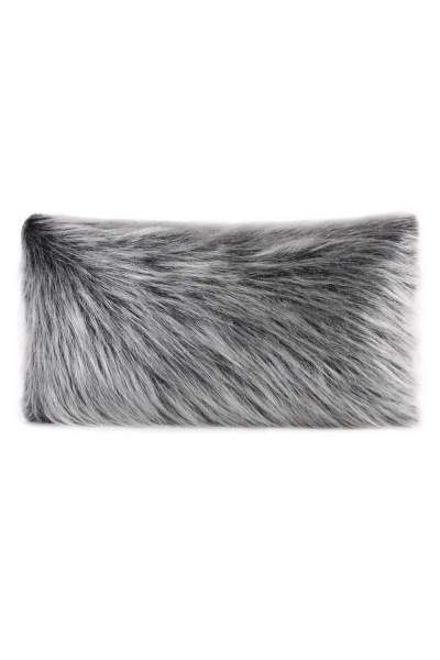 Plush Fur / Grey Pillow Case (35X60) - Thumbnail