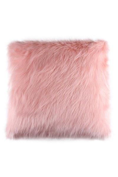 معطف فراء أفخم ، وسادة وردية (43X43) - Thumbnail