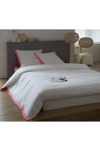MIZALLE - Pink/White Double Linens Set (200X220) (1)